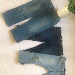 Three pairs Hollister Jean legging 👖